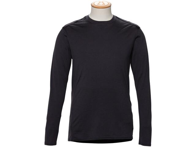 Alchemy Equipment 180GSM Single Jersey T-Shirt Manches longues Col ras-du-cou Mérinos Homme, graphite